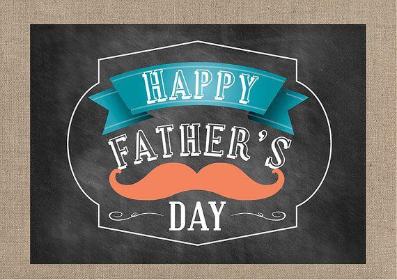 Fathers Day Card - Chalkboard DIY Printable