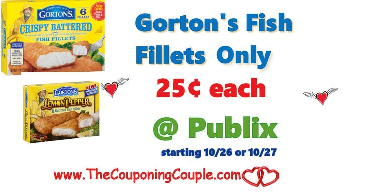 Gorton's Fish Fillets Only $0.25 @ Publix starting 10/26 or 10/27. Get these coupons printed and ready for this upcoming deal. Cheap lunches!  Click the link below to get all of the details ► http://www.thecouponingcouple.com/gortons-fish-fillets-only-0-25-publix/ #Coupons #Couponing #CouponCommunity  Visit us at http://www.thecouponingcouple.com for more great posts!