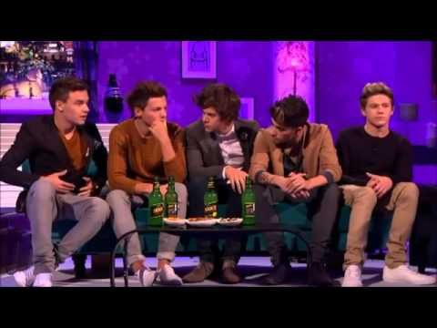 One DIrection on Alan Carr (i hate seeing Liam's face when theyre asked about their gfs) <3 you