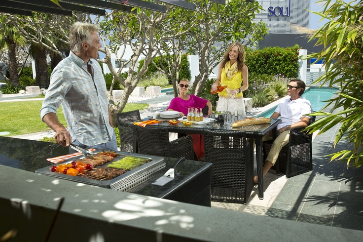 Outdoor patio and barbecue at Soul Residences in Surfers Paradise #Soul #GoldCoast #Amenities