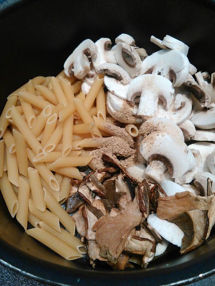 One pot pasta aux cèpes secs et poudre de cèpes