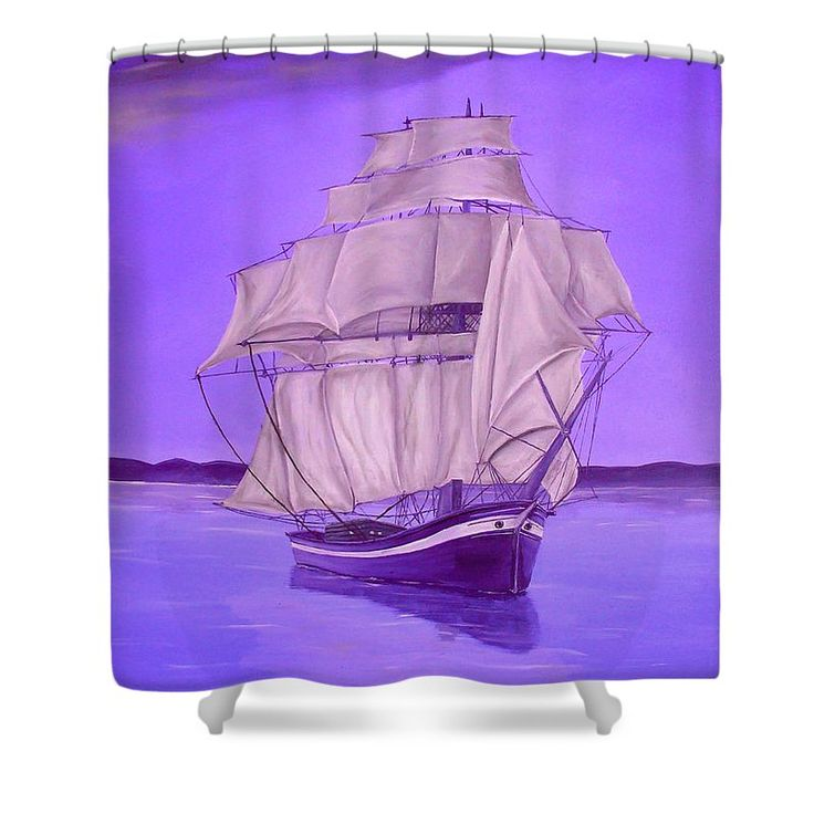 Shower Curtain,  bathroom,accessories,unique,fancy,cool,trendy,artistic,awesome,beautiful,modern,home,decor,design,for,sale,unusual,items,products,ideas,purple,lavender,nautical,sailboat,marine