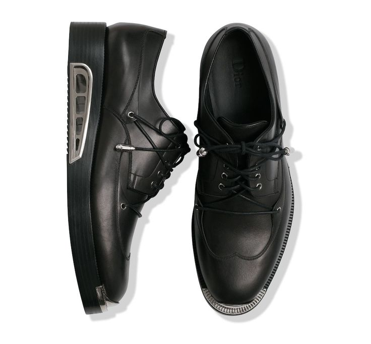 Dior Homme Metal Toe Derby Shoes During Paris Fashion Week   UpscaleHype