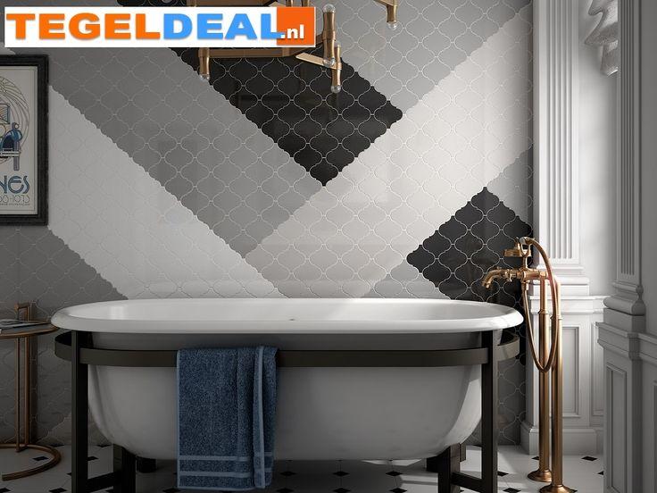 TegelDeal.nl• Product | Wandtegel Arabesk / Arabesque, diverse kleuren | Overige kleuren, Natuurtinten, wit / beige / creme, zwart / grijs / antraciet , PRODUCTIE SPANJE, Overige maten, Keramisch, Wandtegel