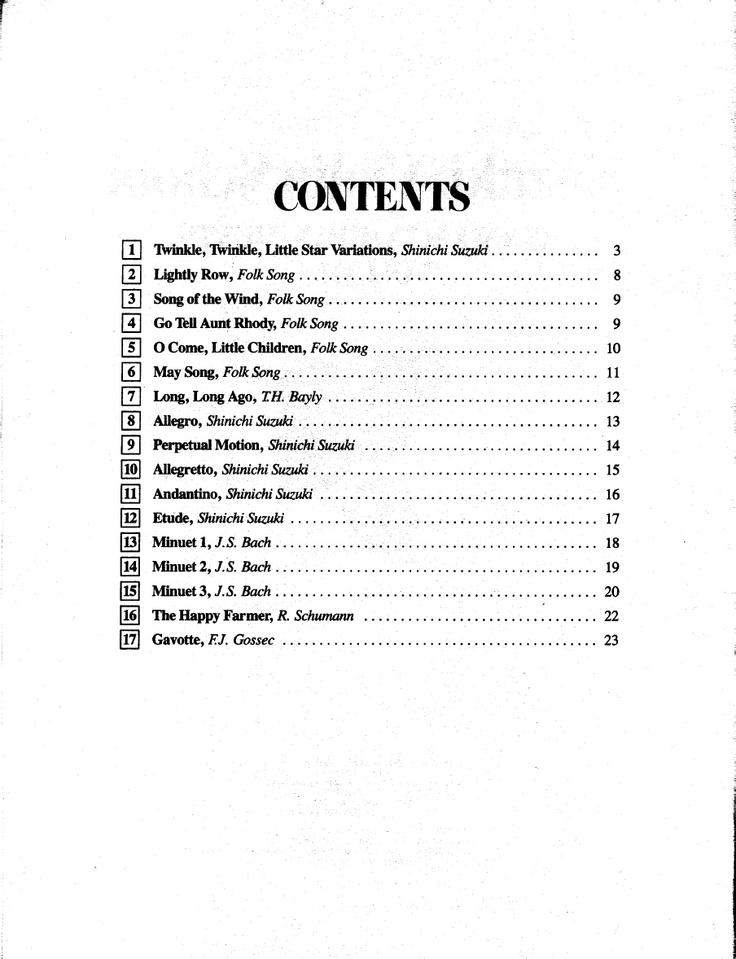 Suzuki Violin Book  Ebook
