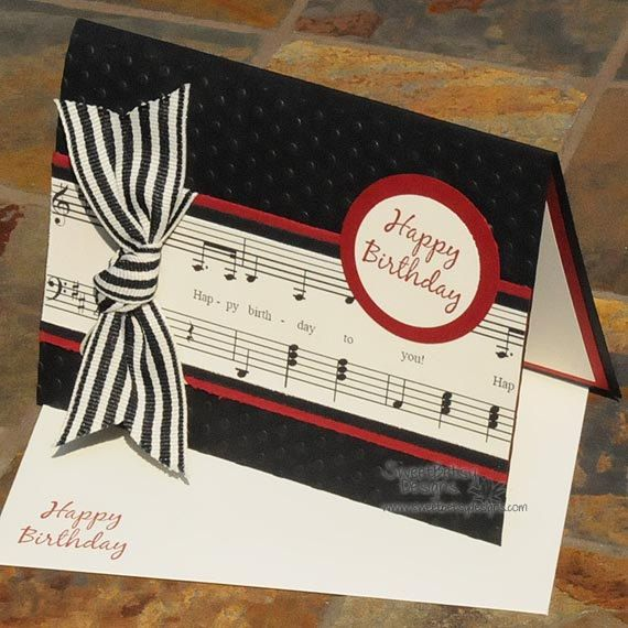 Music Birthday card. LOVE IT!!