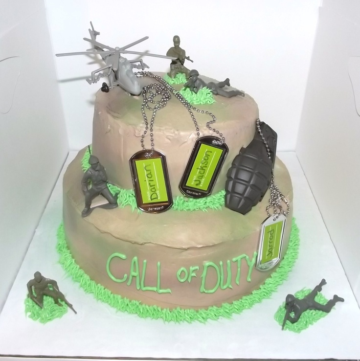 how to make a call of duty cake