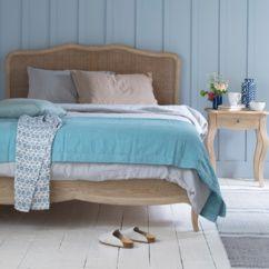 Margot hand-carved oak rattan bed