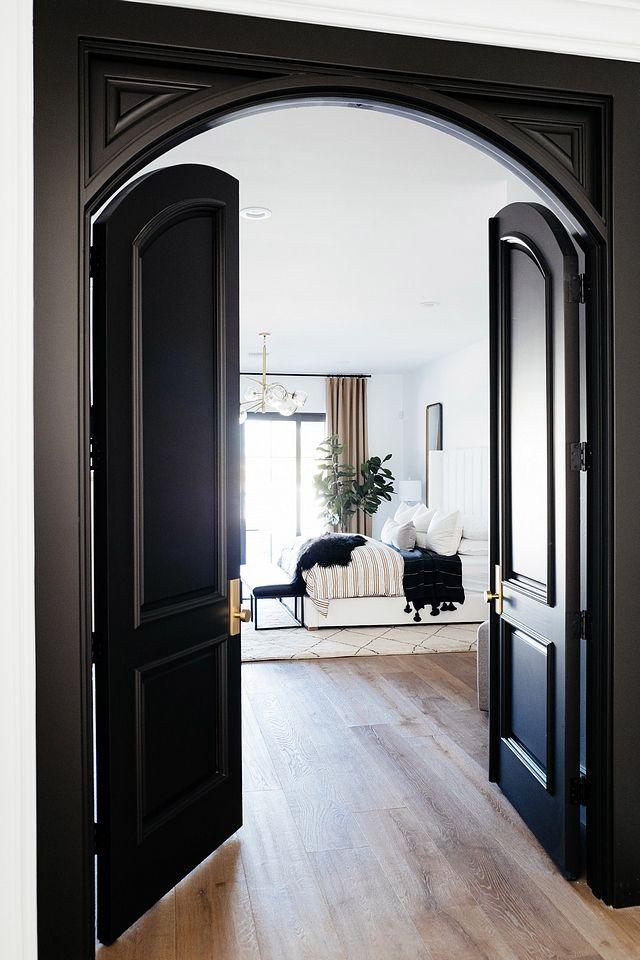 Benjamin Moore Black Beauty Master Bedroom Doors Paint Color