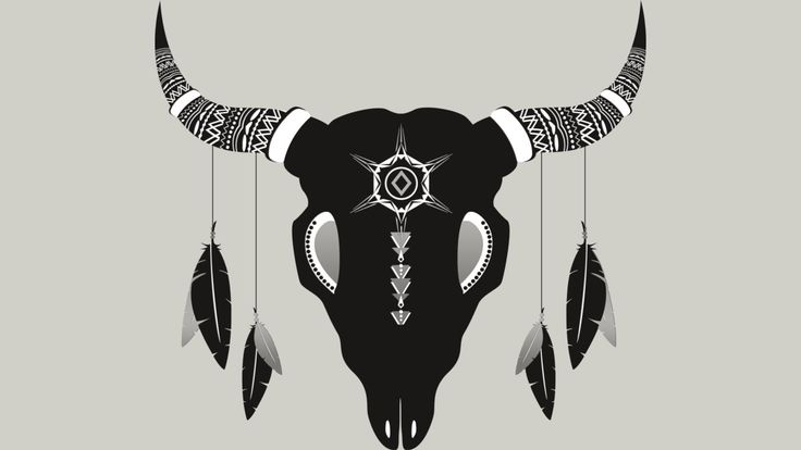 Geometrical aztec meets bohemian style inspired animal skull designed by MellowGroove   For sale at http://www.designbyhumans.com/shop/t-shirt/inspirational-animal-skull/223954/  #dbh #designbyhumans #clothing #phonecases #artwork #animal #bohemian #hippie #aztec #geometrical