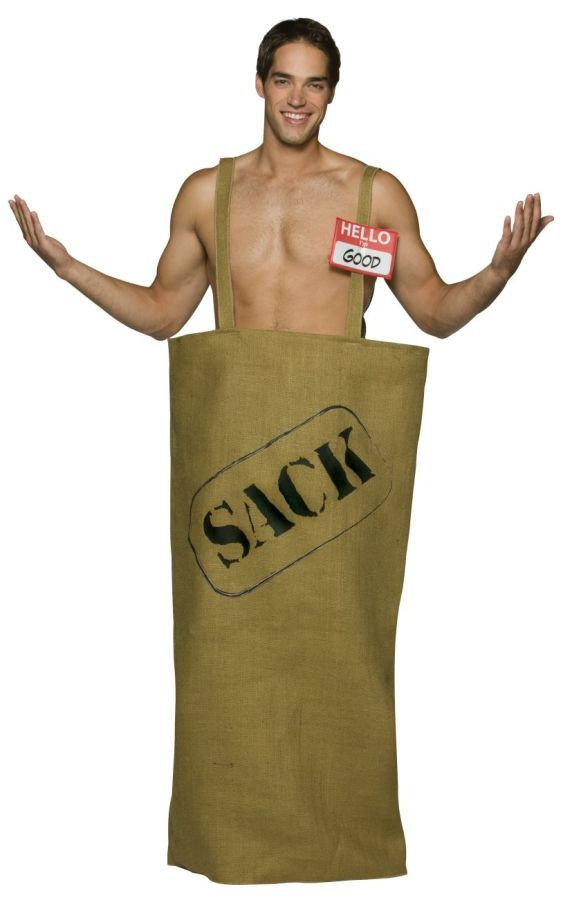 good in the sack mens funny halloween costumes college humor sizes one size