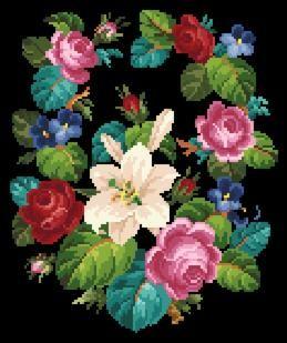 Patterns 2 - Victorian Cross Stitch and Berlin Wool Work Patterns
