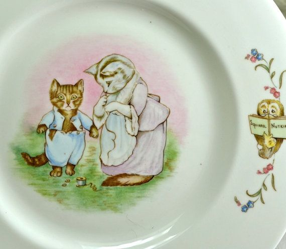 Beatrix Potter Tom Kitten Cat Plate Royal Albert by FeltersCottage
