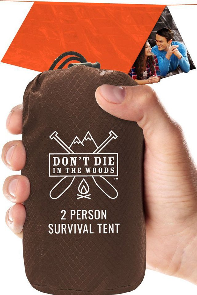 This compact and lightweight pouch belongs in every outdoor travel kit. It packs an emergency 2-person tent made from tear-resistant, durable HeatFlex myla...