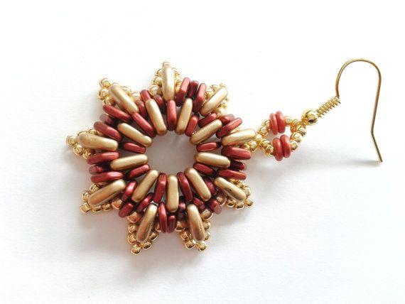 star earrings beadwoven star earrings italian earrings by tizianat