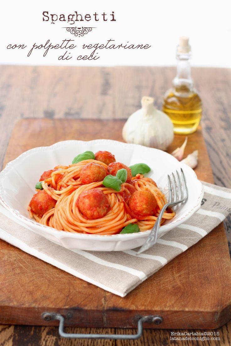 La tana del coniglio: Spaghetti con polpette vegetariane di ceci