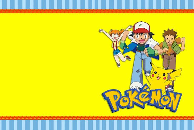 Pokémon - Complete Kit with frames for invitations, labels for snacks, souvenirs and pictures! - Making Our Party