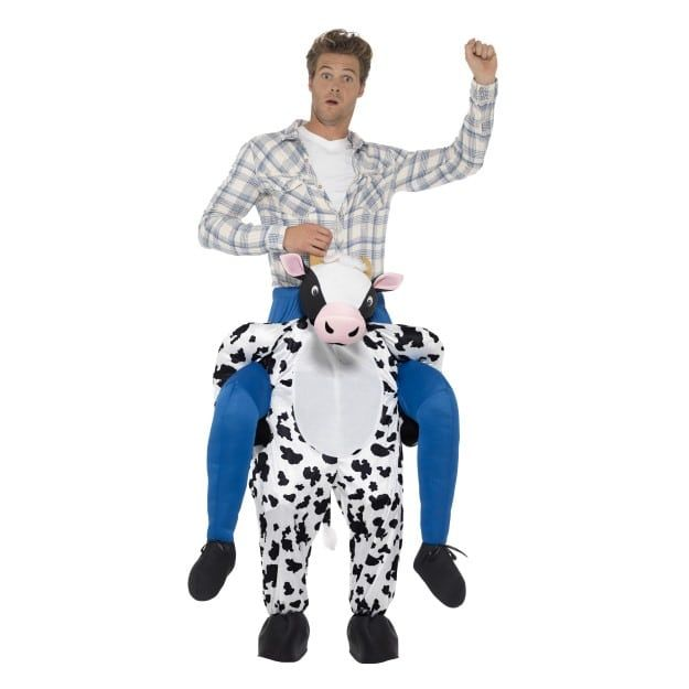 Piggyback Vache Costume Homme Costume Fancy Dress Outfit