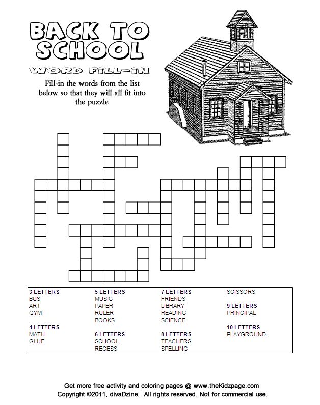 Back to School Word Search Puzzles for the New School Year
