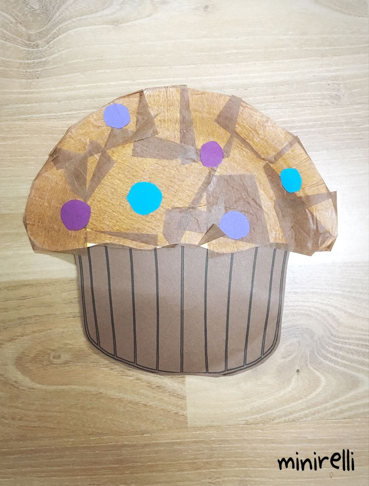 Moving onto food this week! First up is these tasty looking blueberry muffins! You may need: Brown construction paper Brown tissue paper Blue/purple A4 (for the blueberries) Paper plates Glue stick…