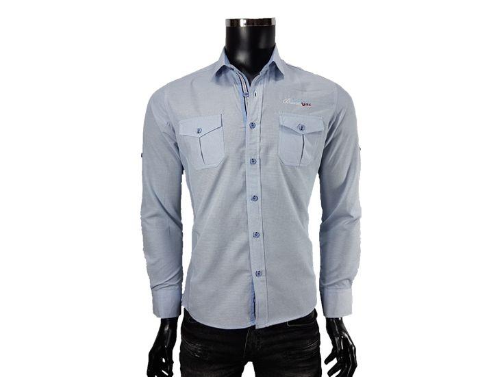 Koszula męska z kieszonką - - Koszule męskie - Awii, Odzież męska, Ubrania męskie, Dla mężczyzn, Sklep internetowy