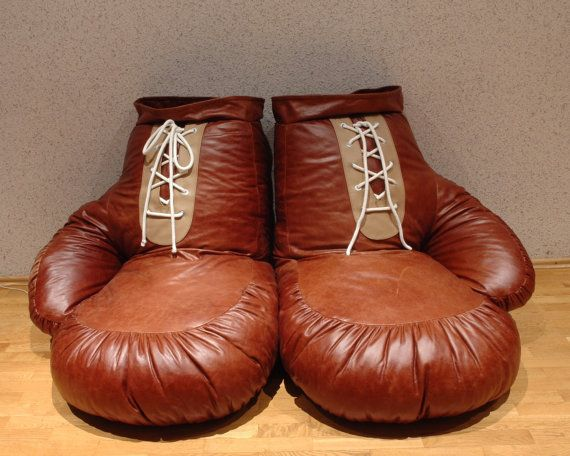 vintage look leather boxing glove chair bean bag by ornald on etsy biglots christmas like. Black Bedroom Furniture Sets. Home Design Ideas