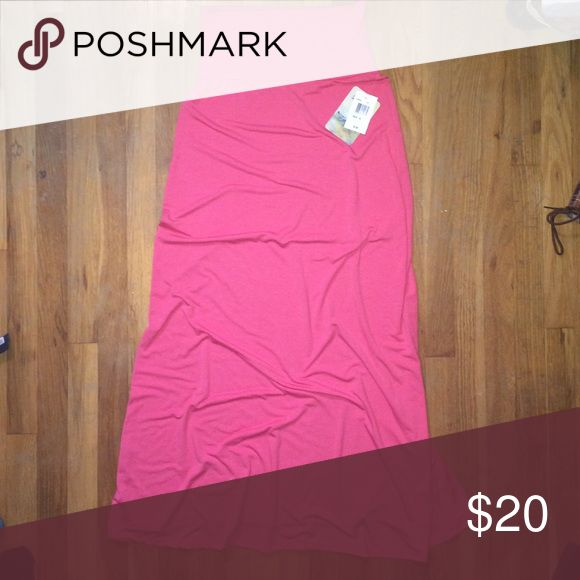 Light coral Maxi skirt Size: medium. Brand new, never worn pink maxi skirt. No rips or stains and still has the tags on it! Comes from a pet and smoke free home:) Lily Star Skirts Maxi