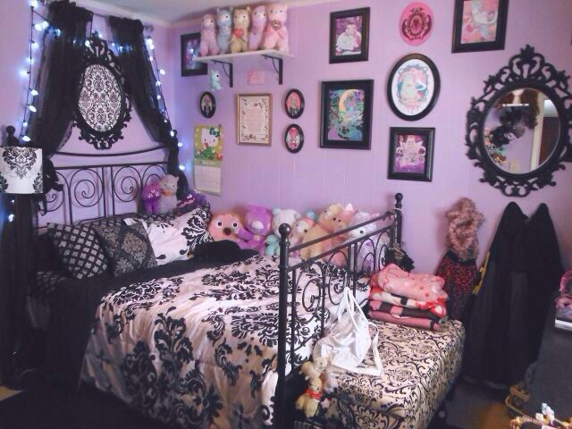 kawaii pastel goth bedroom want - Goth Bedroom Decorating Ideas