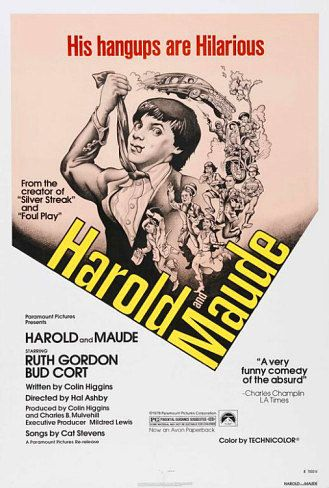 Howard & Maude Movie Poster 27x40  Bud Cort, Ruth Gordon, Cat Stevens RARE OOP 29.95