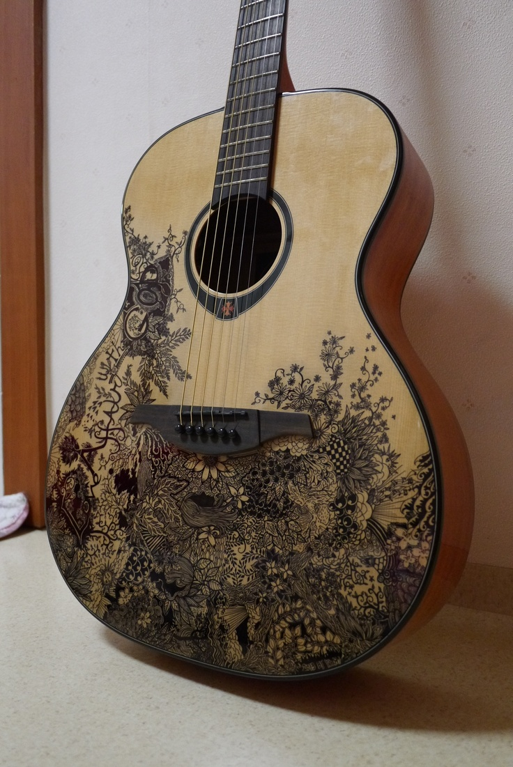 Guitar Designs Art : Best images about acoustic guitars on pinterest