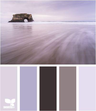 coastal tones... Love all the shades of purple w/ soft under tones of gray