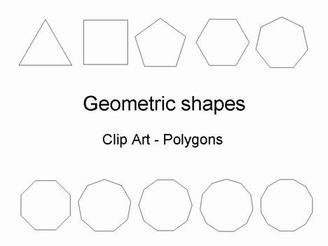 Here we have a complete set of geometric shapes as regular polygons from 3 sided to 20 sided.  We have also included a 24-sided polygon for good measure.  They are already in PowerPoint format .
