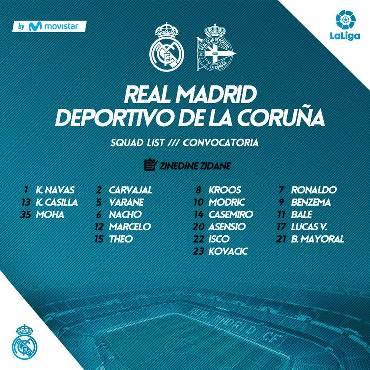 Live Stream: Real Madrid Vs Deportivo La Liga Match Day