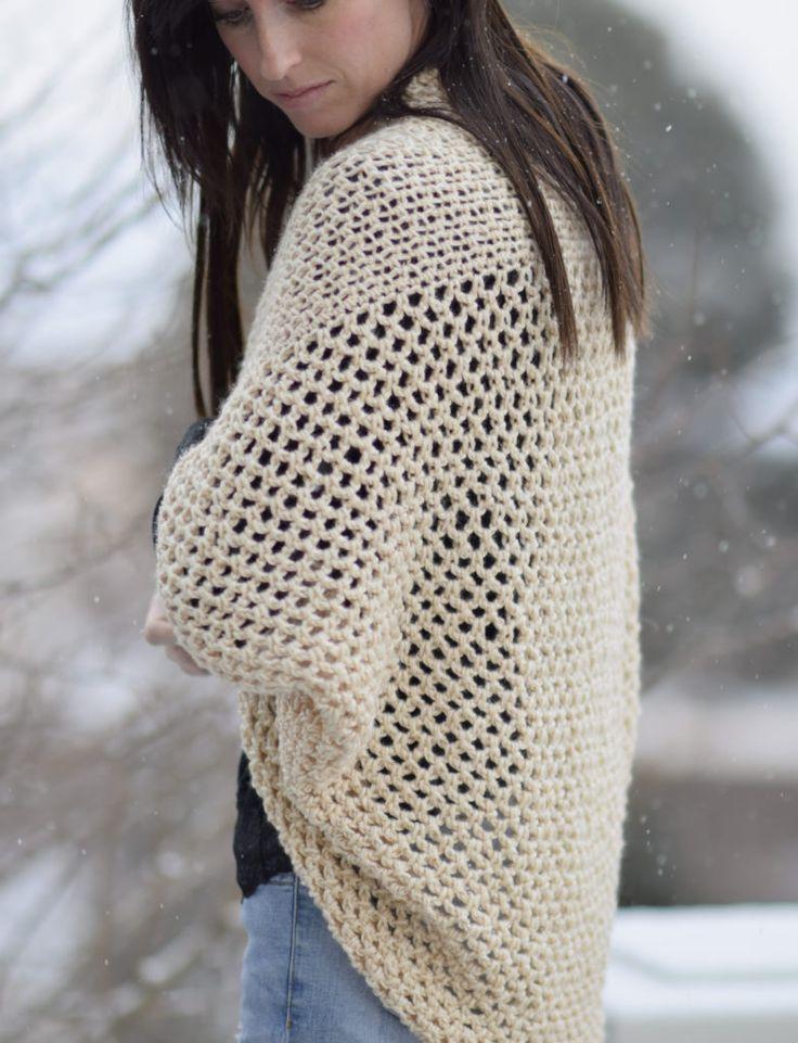 Mod Mesh Honey Blanket Sweater - free crochet pattern at Mama In a Stitch.