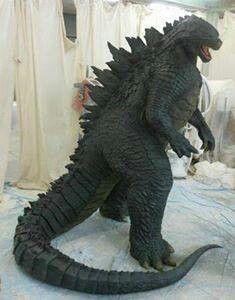 Godzilla 2014 human size statue Awesome! ! | Godzilla