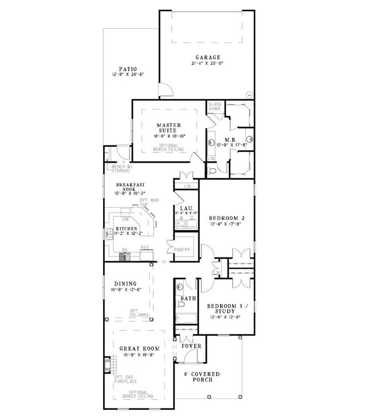 9 best house plans images on pinterest narrow lot house for Narrow house plans with garage in back