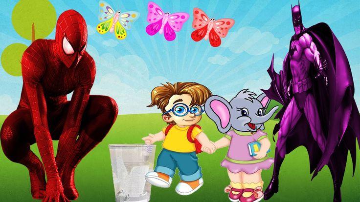 Spider Man - Kids Songs | Batman Cartoon Video For Babies | 3D English N...