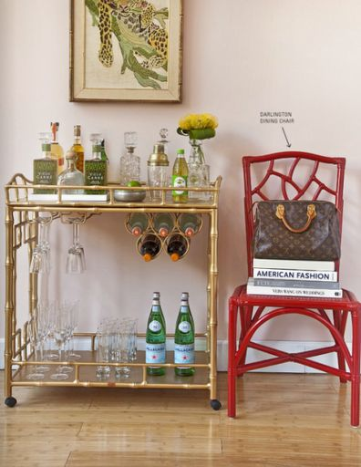 HG Item. Chinoiserie bar cart. Some day I will find one in good condition and it will be mine!