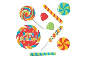 "Assorted Party Cutouts ""Happy Birthday"" (Sugar Buzz) - Whish.ca"