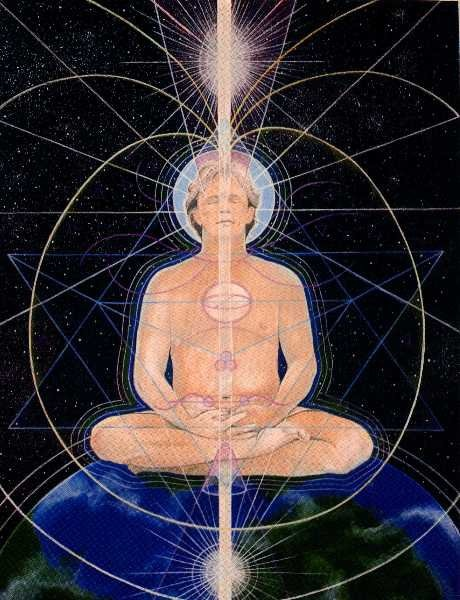 Torus energy flows through and surrounds all.