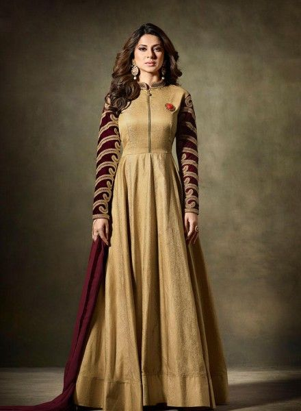 Golden gown style anarkali suit  https://www.gravity-fashion.com/golden-gown-style-indian-anarkali-salwar-kameez-in-silk-n17250.html