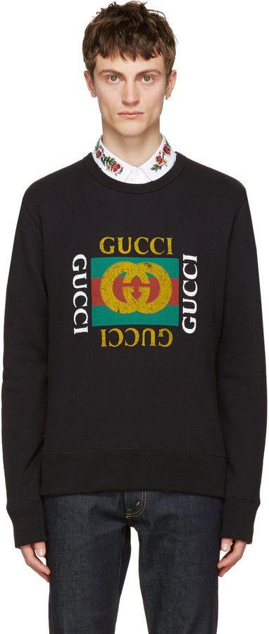 Gucci Black Logo Pullover
