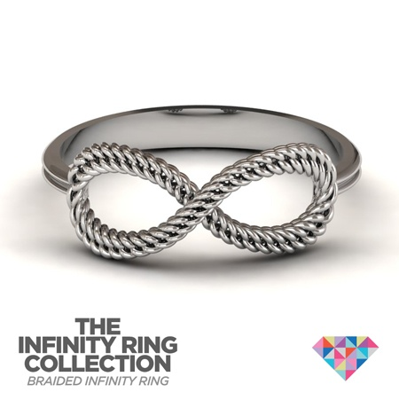 The Braided Infinity Ring  #personalized #jewelry #ring #infinity