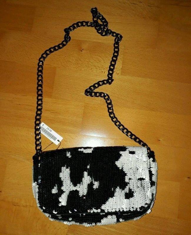 Clutch / Handtasche mit Pailletten