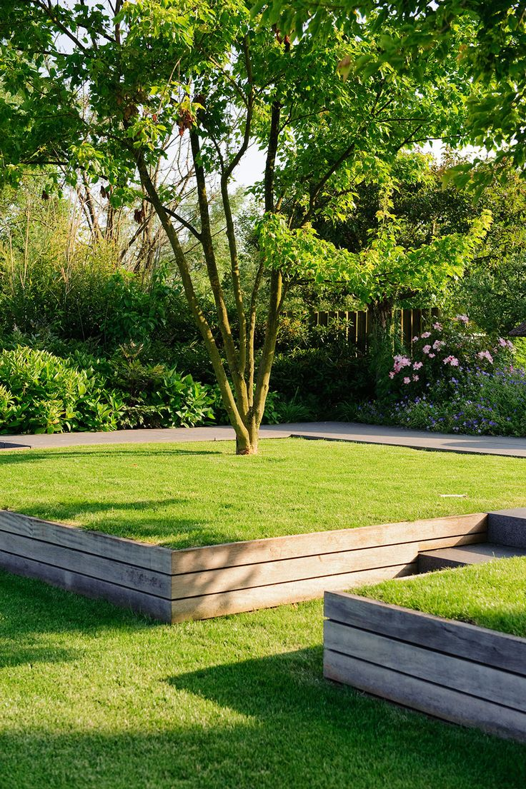 229 best images about lawn retaining earth shaping on for Lawn design pictures