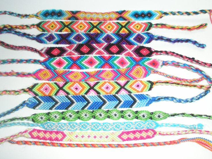 Embroidery floss friendship bracelet patterns
