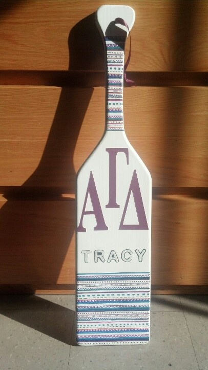 Hand drawn tribal print alpha gamma delta paddle. Sorority ... & 20 best Personal Crafts images on Pinterest | College graduation cap ...