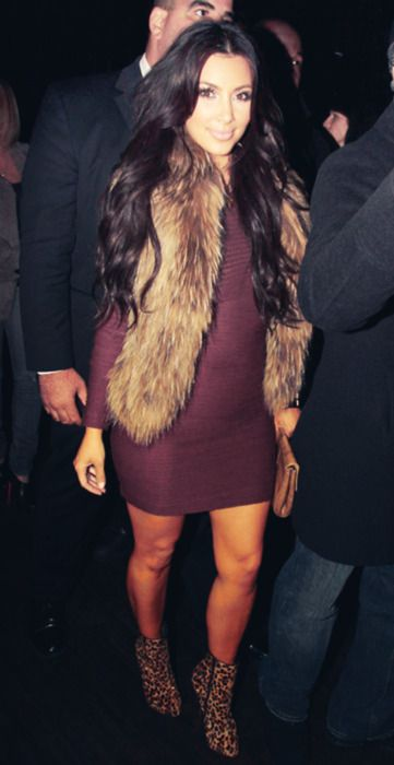 I love the burgundy color with the brown vest