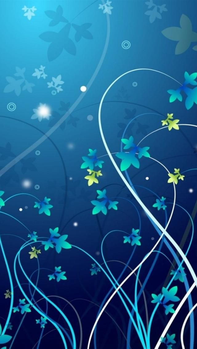 iphone wallpapers background -...  blue flowers designs | Abstract HD Wallpapers 2