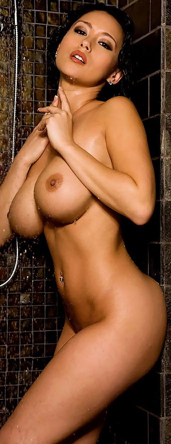Nude soap shower wet